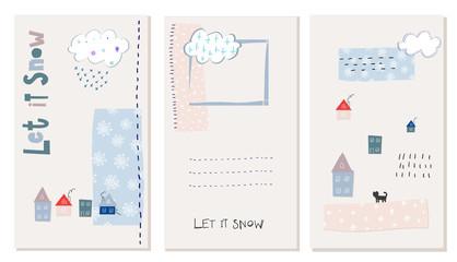 Let snow flakes fall winter baby season