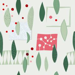 Christmas tree winter season collage