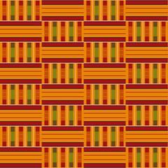 African seamless pattern. Cloth Kente. Tribal print.