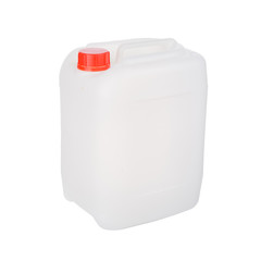 One Plastic jerrycan isolated on white background