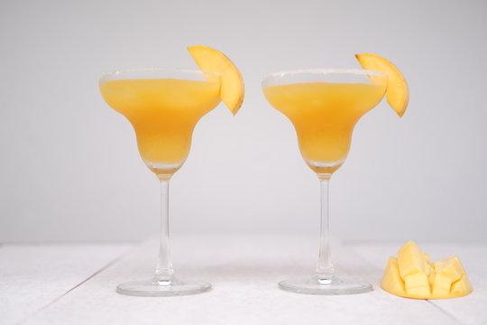 mango margarita cocktail on table
