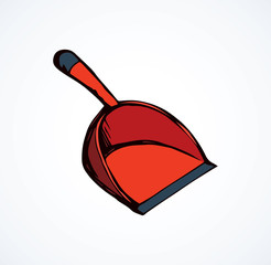 Scoop for cleaning. Vector drawing