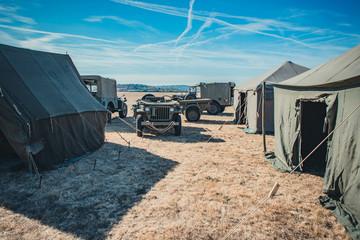 Camp militaire vintage