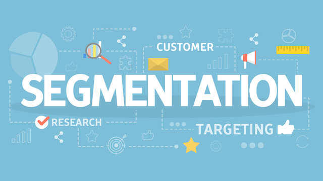 Segmentation in the business and marketing concept.