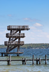 Lake Ammersee diving board