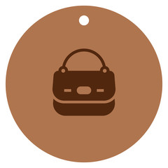 Handbag icon, female bag vector icon, shopping bag vector icon.