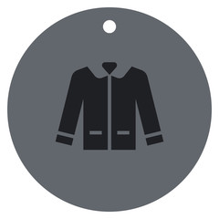 Icon leather jacket with trendy casual symbol for shop man's clothes.