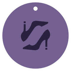 Women's shoe Icon with trendy symbol for shop clothes.