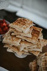 waffles at a wedding