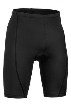 Biker black shorts isolated on white background