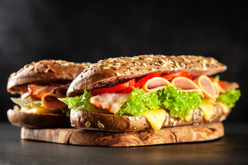 Printed roller blinds Snack Classic BLT sandwiches