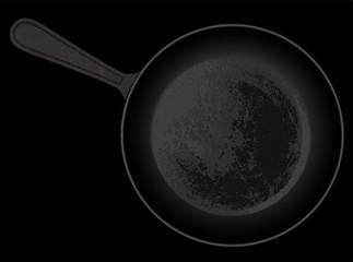 cast-iron frying pan