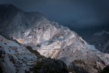 carrara quarry, dramatic