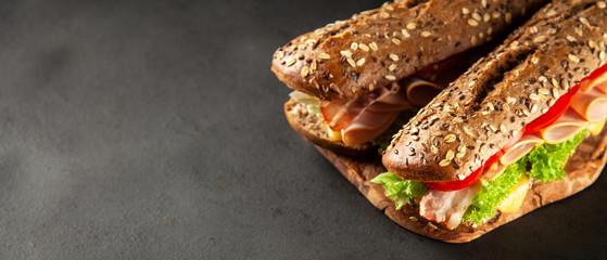 Photo sur Aluminium Snack Classic BLT sandwiches