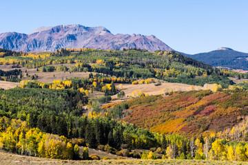 The San Juan Mountains - Beautiful and Colorful Colorado Rocky Mountain Autumn Scenery