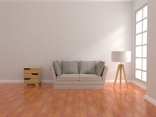 living room design interior 3d rendering