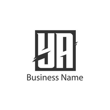 Initial Letter YA Logo Template Design