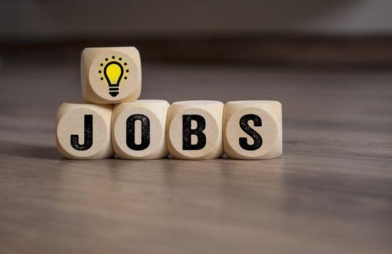Würfel mit Jobs Stellenangebot