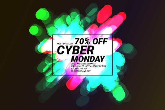 Cyber monday shiny sale banner