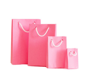 paper bags isolated on white background
