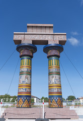 Egyptian arch with columns Verona