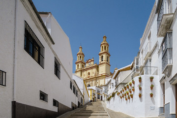 Village of the Comarca of white villages of Cadiz called Olvera