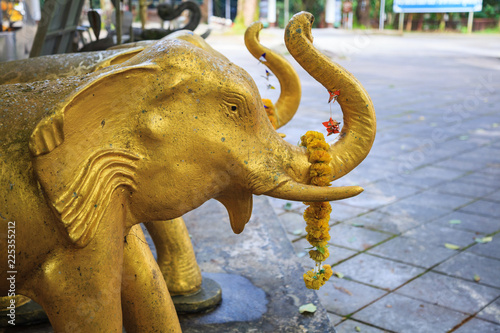 Elephant dolls or statues as offering or oblation to appease or