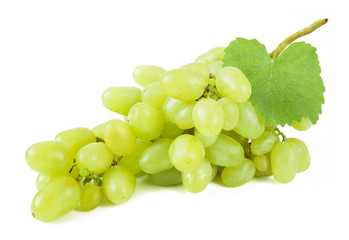 grapes branch isolated on white background