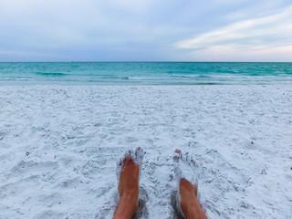 Siesta Key, USA - The white sand at Siesta key beach at Florida