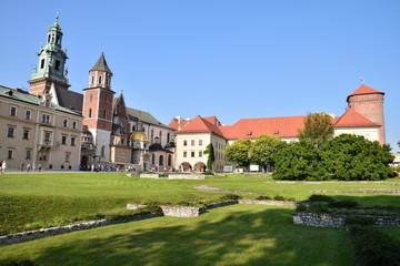 Foto op Aluminium Krakau Château du Wawel (XVème siècle)