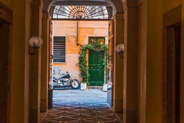 Picturesque doorway in Rome