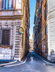 Narrow alley in Rome