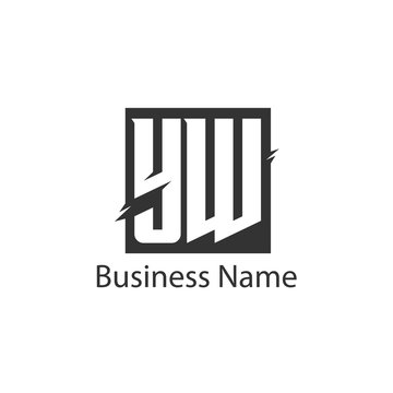 Initial Letter YW Logo Template Design