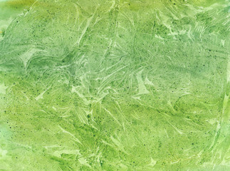 Watercolor background of summer green color