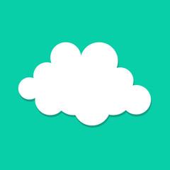 Flat Icon Wolken