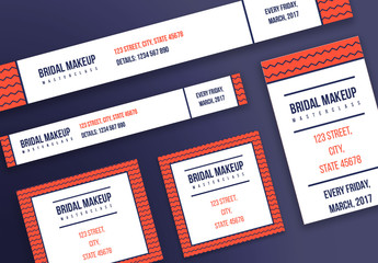Web Banner Layouts with Geometric Patterns