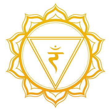 Solar Plexus Chakra Vector Illustration