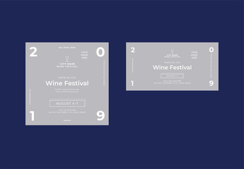 Social Media Feed Layouts with Wine Glass Icon