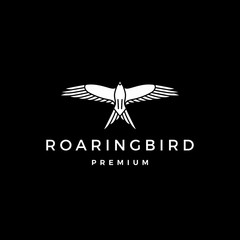 roaring bird logo vector icon illustration