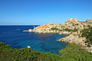Beautiful bay and rocky coastline at Cala Spinosa, Sardinia, italy