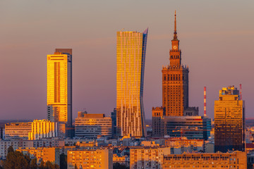 City Center of Warsaw, Poland