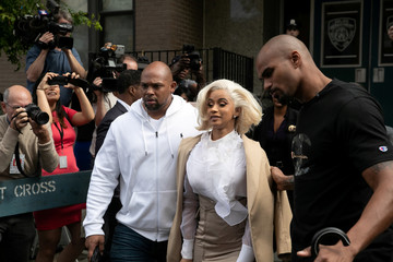 Cardi B leaves the 109th Precinct in Queens, New York