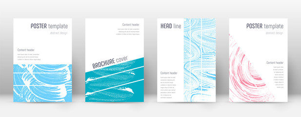 Cover page design template. Geometric brochure lay