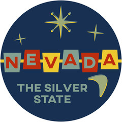 nevada: the silver state | digital badge