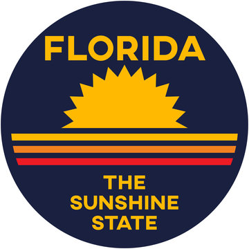 florida: the sunshine state | digital badge