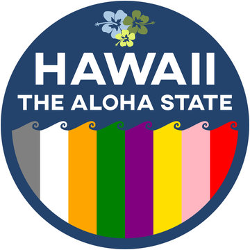 hawaii: the aloha state | digital badge