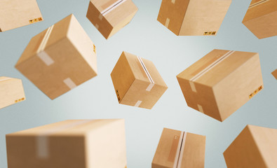 Cardboard boxes, illustration