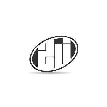 Initial Letter ZJ Logo Template Design