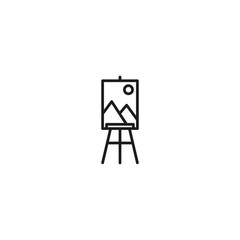 line easel thin icon on white background