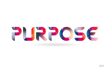 purpose colored rainbow word text suitable for logo design Wall mural